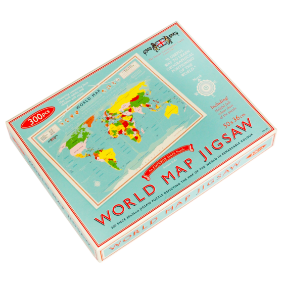 "Jigsaw Puzzle ""Vintage World Map"""
