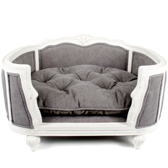 Lord Lou Arthur stonewashed canvas grey upholstered