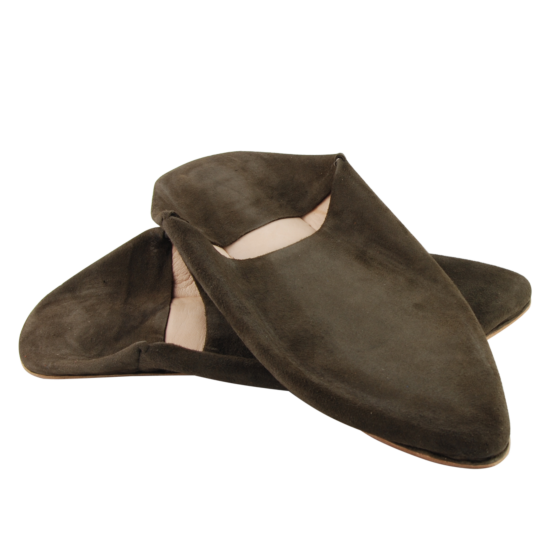 Babouche Moroccan Slipper Dark Brown
