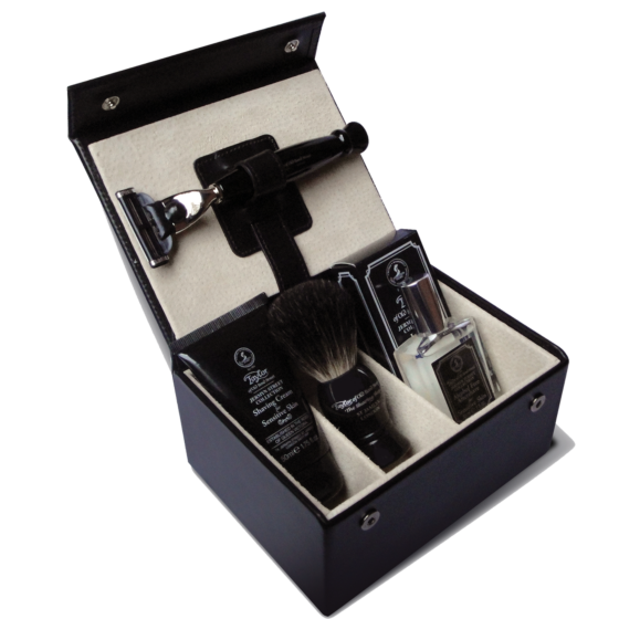 Taylor of Old Bond Street Jermyn Street Collection Luxury Leather Grooming Box