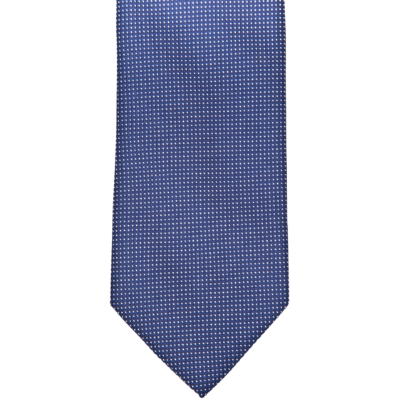 Drakes Silk Tie Jaquard Dark Blue White