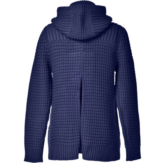 Bark Ladys Duffel Coat Knitted in Navy Blue
