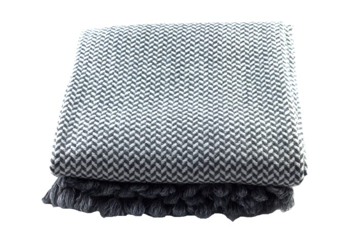 SOHO Plaid Cashmere Grey-White