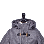 Bark Duffle Coat Knitted for Kids in Grey