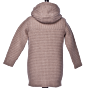 Bark Duffle Coat Knitted for Kids in Sand with Fur Imitation Lining and Detachable Hood