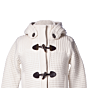 Bark Ladys Duffle Coat Knitted Medium Off-White