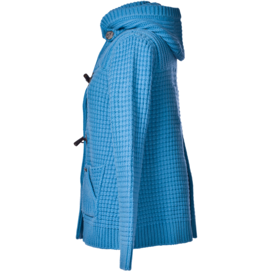 Bark Duffle Coat Knitted Turquoise