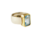 Torhaus Silver Ring with Gold Setting and Faceted Topaz