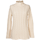 Lanificio Colombo Cashmere Funnel Collar Sweater Off White Natural