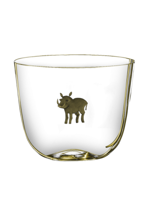Lobmeyr Drinking Set No. 267 Water Tumbler with Engraved Warthog