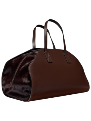 Dante Goods And Bads 'Hold Me Close' Leather Weekender Cavallino