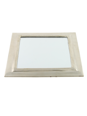 Squared mirror with plane metal frame