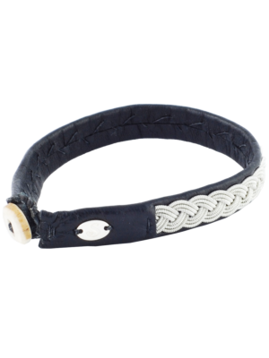 Saami Crafts Leather Bracelet Black