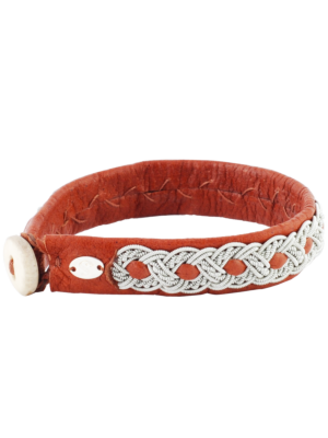 Saami Crafts Leather Bracelet Brown