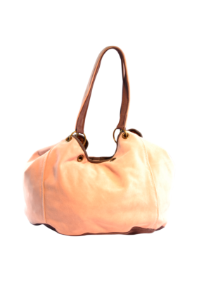 Suede Leather Shopper Peach