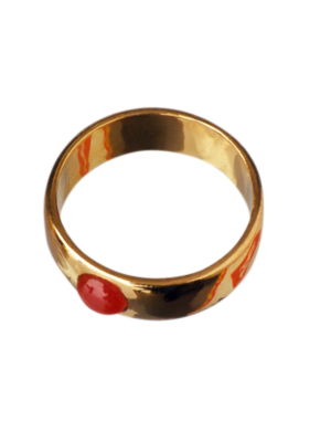 Torhaus Gold Ring with Ruby Cabochon