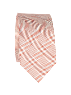Drakes SIlk Tie Checkered Red White