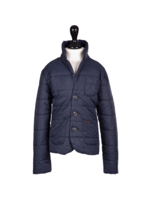 Bark Quilted Jacket for Kids in Navy