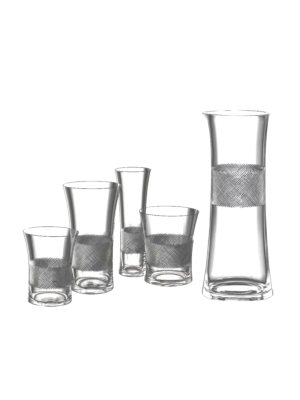 Lobmeyr Drinking Set No. 282 DOF Tumbler with Diamond Cut on Glass