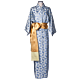 Daniel Hanson Silk Kimono for Woman blue