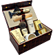 Taylor of Old Bond Street Luxury Men's Leather Grooming Box