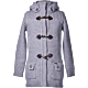 Bark Ladys Duffle Coat Knitted Light Grey