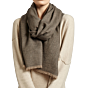 Oyuna Cashmere Shawl Saan Charcoal-Taupe