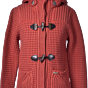 Bark Duffle Coat Knitted in Coral