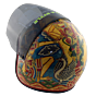 Biker helmet hand-painted from Bali