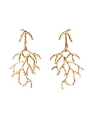 Giulia Barela Bronze Earrings Salix