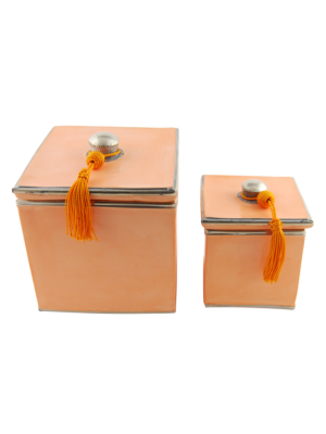 Ceramic Box Set Apricot