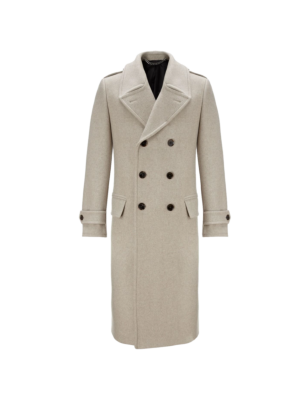 Crombie Great Coat Beige