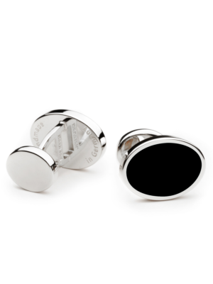 Deumer Cufflink oval with black Onyx
