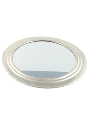 Mirror round with metal frame