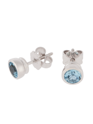 Pure Ear Studs Aquamarin by RenéSim