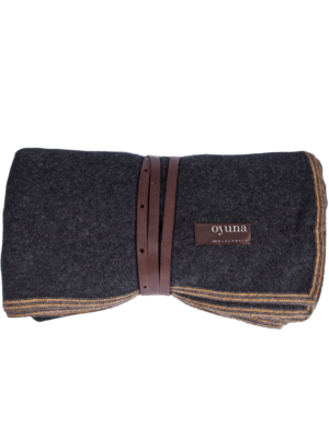 Oyuna Cashmere Throw Travel-Set Toscani Charcoal