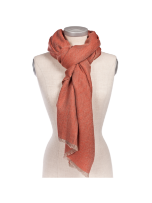 Oyuna Cashmere Shawl Saan Coral-Taupe