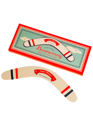 Traditional wooden boomerang