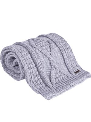 Bark Scarf Knitted for Kids in Light Grey