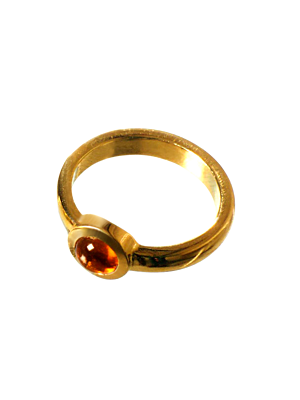 Torhaus Gold Ring with Citrin Cabochon