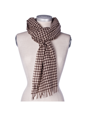 Drakes Cashmere Scarf Chequered
