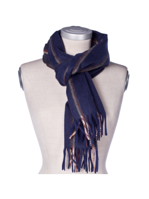Drakes Lambswool Angora Scarf Doublestriped
