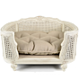 Lord Lou Arthur Linen Ecru White Pet Basket