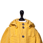 Bark Duffle Coat Knitted for Kids Yellow, Detachable Hood