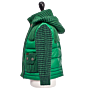 Bark Duffle Coat for Kids Quilted and Knitted, with a Detachable Hood, green