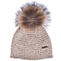 Bark Kids Bonnet Knitted with Pompom in Sand