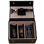 Taylor of Old Bond Street Jermyn Street Collection Luxury Leather Grooming Box black