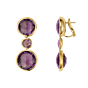 Rock Earrings Amethyst Rose Gold by RenéSim