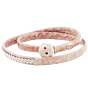 Saami Crafts Leather Bracelet Double Wrapped Papin Rose