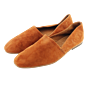 Leather Slipper Red Brown